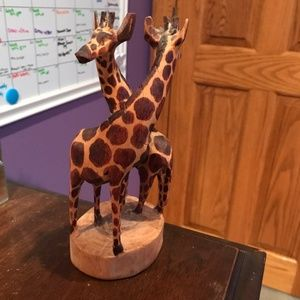 Other - Wooden Giraffe Statue/ hand carved